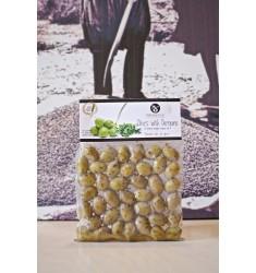 Delicious Crete 250 g  Oregano flavored Green Olives