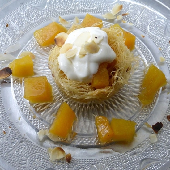 KATAIFI WITH HONEYED PUMPKIN AND YOGURT