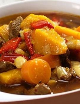 Aromatic Lamb & Pumpkin Soup