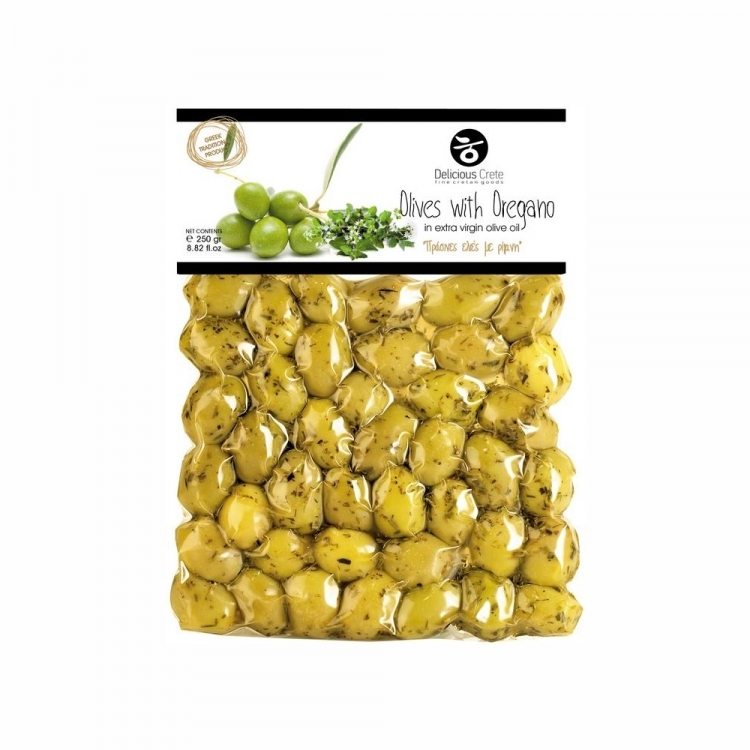 delicious crete olives with oregano